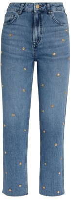 Claudie Pierlot Embellished Straight Jeans