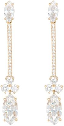 Nadri Pipa Linear Gold Plated CZ Drop Earrings