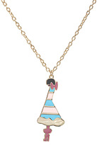Libertine By Giles Deacon 18ct Gold Plated Enamel Lady Pendant