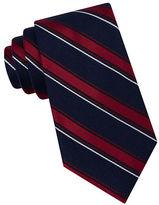 Black Brown 1826 Oxford Striped Silk Tie