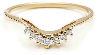 Anna Sheffield White Diamond Luna Tiara Ring - Yellow Gold
