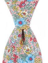 Roundtree & Yorke Trademark Floral-Print Slim Tie