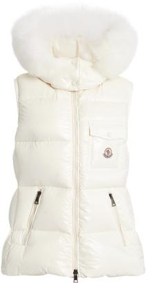 Moncler Balabio Fur-Trimmed Down Puffer Vest
