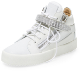 Giuseppe Zanotti Solid Leather High Top Sneaker