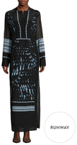 BCBGMAXAZRIA Anastasia Silk Tea Length Dress