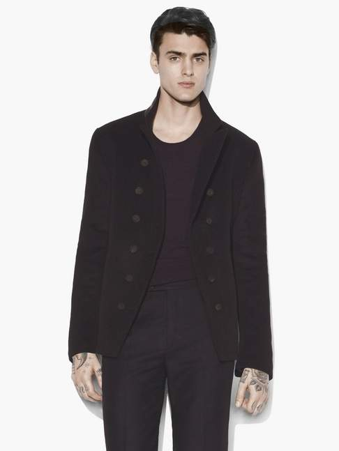 John Varvatos Double-Breasted Cut Away Jacket