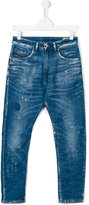 Diesel distressed carrot jeans