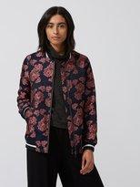 Frank and Oak Jacquard-Knit Floral Bomber Jacket