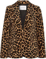 Frame Leopard-print Cotton-blend Velvet Blazer - Leopard print