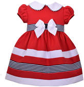Bonnie Jean Short Sleeve Red Bow Dress - Baby Girls