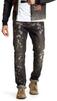 X-Ray Bleach Splattered Denim Jean