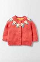 Infant Girl's Mini Boden Crochet Cardigan