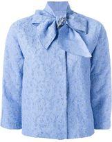Ermanno Scervino bow collar crop jacket - women - Polyamide/Polyester/Spandex/Elastane/Viscose - 42
