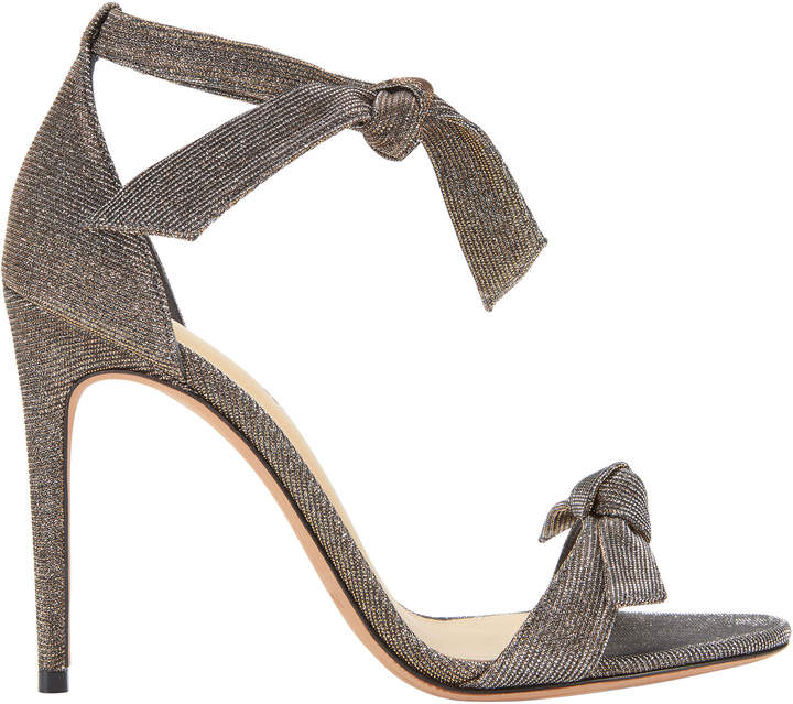 Alexandre Birman Clarita Double Bow Shimmer Sandals