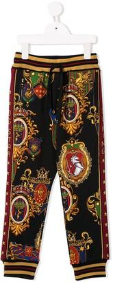 Dolce & Gabbana coat of arms print track pants