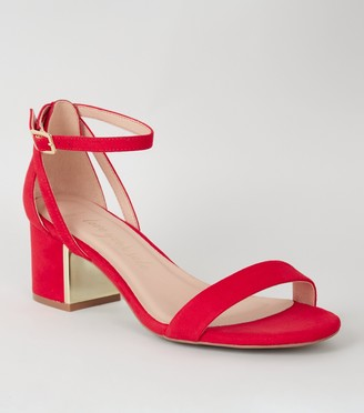 New Look Wide Fit Metal Low Block Heels