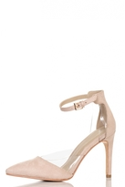 Quiz Nude Faux Suede Pointed Court Shoes