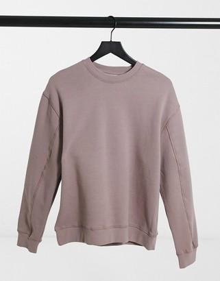 Topshop sweatshirt in mink