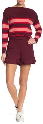 J.o.a. Eyelet Trim Ruffle Shorts