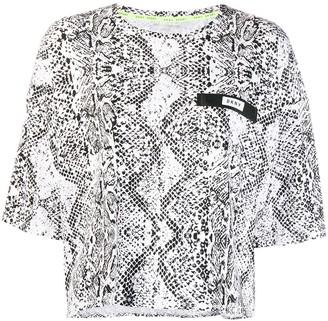 DKNY boxy snakeskin effect T-shirt