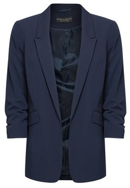 Dorothy Perkins Womens Navy Ruched Sleeve Jacket