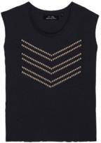 June 7.2 - Charcoal Hayden Logo Studs Tee - cotton | S . | charcoal - Charcoal