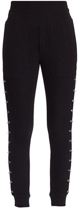 The Kooples Sweet Fleece Ring-Detailed Joggers