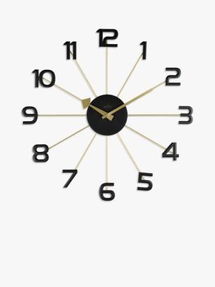 Acctim Astraea Quartz Wall Clock, 49cm, Gold/Brass