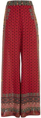 Alice + Olivia Athena Print Wide-Leg Trousers