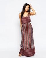 Brave Soul Folk Print Maxi Dress