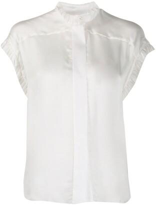 Alexandre Vauthier Ruffle-Trim Silk Shirt