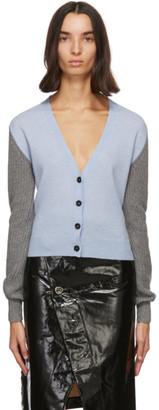 Marni Blue Cashmere Contrast Sleeve Cardigan