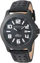 Momentum Men's 'Cobalt V' Quartz Titanium and Leather Casual Watch, Color: (Model: 1M-SP06B2B)