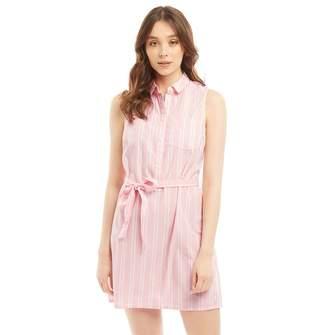 Jack Wills Womens Ruckhall Shirt Dress Pink