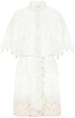 Zimmermann Wavelength silk shirt dress