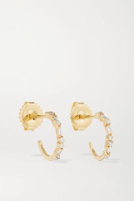 Suzanne Kalan 18-karat Gold Diamond Hoop Earrings - one size
