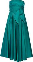 Tibi Satin-poplin midi dress