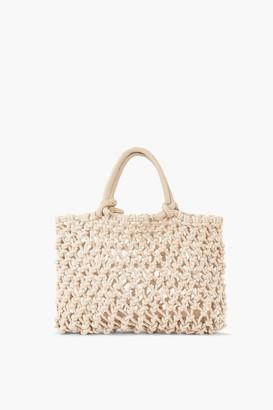 Clare Vivier Cream Petit Sandy Bag