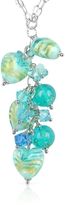 Glass Heart House of Murano Mare - Turquoise Murano Drop Necklace