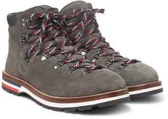 Moncler Peak Suede Hiking Boots - Men - Gray