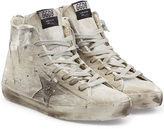 Golden Goose Deluxe Brand High Top Sneakers with Leather