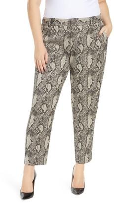 Rachel Roy Snake Print Ankle Crop Pants (Plus Size)