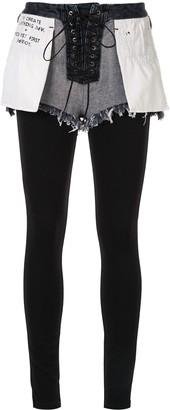 Unravel Project Contrast Slim-Fit Trousers