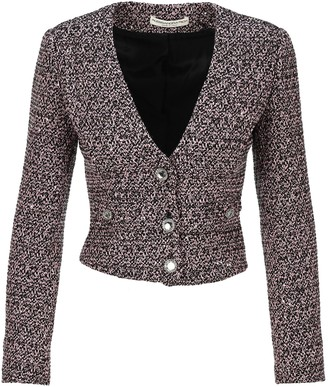 Alessandra Rich Sequin Tweed Blazer
