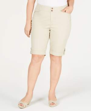 Charter Club Plus Size Cuffed Chino Shorts, Created for Macy's