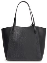 BP Embossed Faux Leather Tote - Black