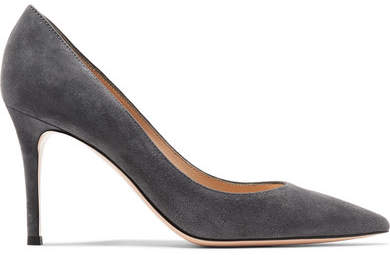 Gianvito Rossi 85 Suede Pumps - Anthracite