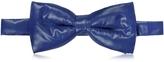 Forzieri Midnight Blue Nylon Puffer Bow Tie