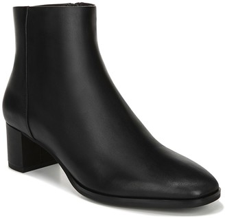 Via Spiga Vinson Leather Block Heel Bootie