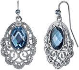 1928 Filigree Oval Scallop Drop Earrings